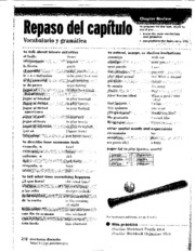 Beginning Spanish II 004 Review Sheet