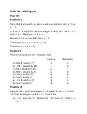 Math 201 - Homework 28 - Division algorithm and modulus.docx