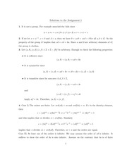 MATH 3E03 Fall 2010 Assignment 1 Solutions