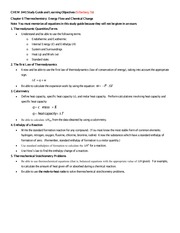 CHEM 1441 Unit 03 Chapter 06 Study Guide and Learning Objectives