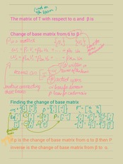 Change of base matrices
