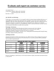 Evaluate and report on customer service.pdf
