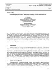 The Emerging Trend of Online Shopping - A Literature Review.pdf
