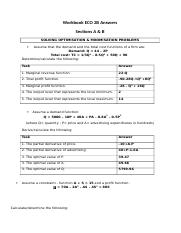 Workbook ECO 2B Answers Sections A & B 1