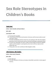 Sex Role Stereotypes in Children