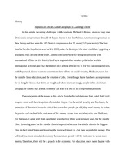 Midterm election 2010 Essay