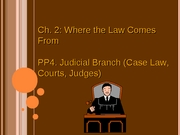 Ch2 PP4 Where Law Comes From (Judicial Branch) (3.4.08)