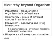 Hierarchy beyond Organism