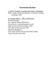 outline jfk Summary of findings and recommendations findings in the assassination of president kennedy findings in the assassination of reverend king recommendations of the select committee on assassinations i findings of the select committee on assassinations in the assassination of president john f.