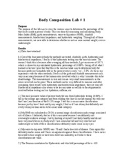 Lab #1 Body Comp