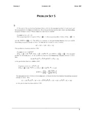 ECON 110 Fall 2007 Problem Set 5 Solutions