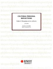 CULTURAL PERSONAL REFLECTIONS_s3577856.pdf