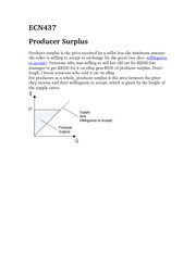 ECN437Producer Surplus