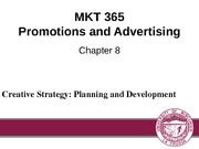 Chapter 8: Creative Strategy (Planning and Development)