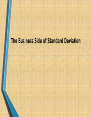 Final.QRB 501 Week 3 Individual Assignment The Business Side of Standard Deviation 1