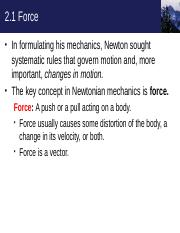 Chapter 2 - The study of motion 1-7