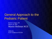 General Approach to the Pediatric Patient