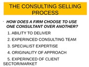 6. Consulting selling process