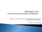 1_rsm430 _ Overview of FI Market_Gov't Bond Auctions summer 2