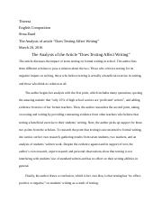 Analysis—Does Texting Affect Writing.docx
