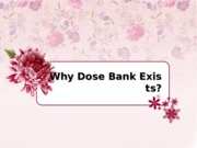 Why Dose Bank Exists.ppt