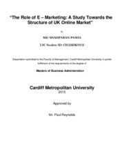 MBA_Dissertation- A study on E-Marketing