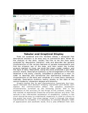 Tabular and Graphical Display.docx