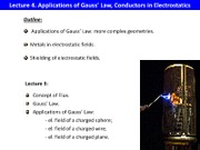 L4 Gauss Law Conductors in Electrostatics