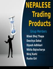 NEPALESE Trading Products.ppt