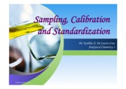 Sampling, Calibration and Standardization