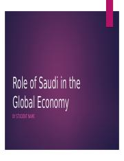 Role of Saudi in the Global Economy.pptx