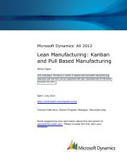 Lean manufacturing_Kanban and pull based manufacturing_AX2012
