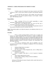 Appendix G  Sample Procedure for 'Permit to Work'