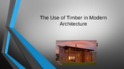 The Use of Timber in Modern Architecture