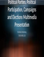 Political Parties, Political Participation, Campaigns and