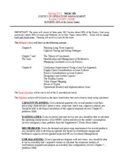 MGSC 395 Spring 2011 - EXAM 2 - STUDY GUIDE