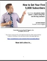 First 5000 Subscribers