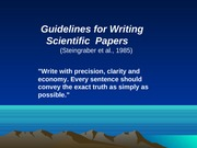 Lecture 11 Scientific writing