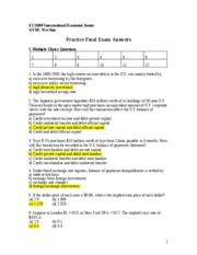 Practice Final Exam F10 Answers