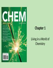 Chapter 1 Living in a World of Chemistry(1) (1)