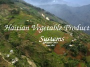 Haitian Vegetable Production Systems