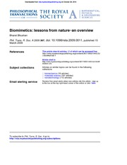 biomimetics - overview
