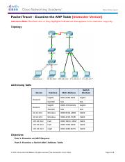 5.2.1.7 Packet Tracer - Examine the ARP Table Instructions IG.docx