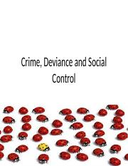 10 Crime, Deviance and Social Control
