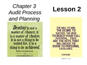 Chap03 Audit Process & Planning - Lesson 2
