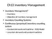 BUSN 6110 Operations and Project Management inventory managemenppt