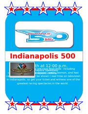 25-35 Indy 500 Flyer