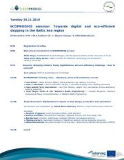 Towards digital and eco-efficient shipping in the Baltic Sea region_seminar programme_13112018.pdf