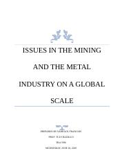 The Mining and the Metal industry.docx