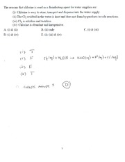 CHEM 150 Example 2 In Class Solutions